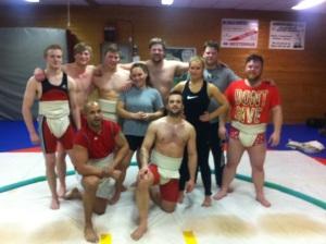 Her er noen fra gjengen jeg trener med.